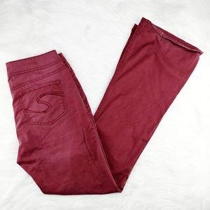 Silver | Suki raspberry mid rise jeans